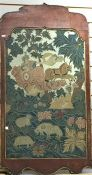 17th century needlework picture, allegorical scene, possibly Aphrodite in horse-drawn chariot