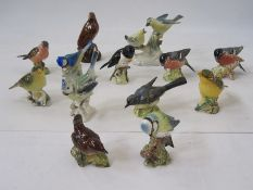 Quantity of Beswick and other model birdsto include Beswick 'Wren', 'Blue Tit', 'Grey Wagtail', '