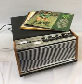 KB twin-speaker 1080 record playerand a quantity of 1970's 33 and 45rpm records Condition