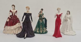 Royal Worcester 'The Emerald Princess' figure, limited edition 554/2950 with certificate, Royal