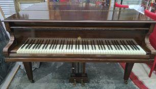 John Broadwood & Sons baby grand mahogany cased piano
