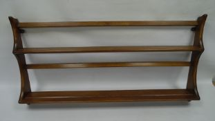 Ercol wall hanging plate rack