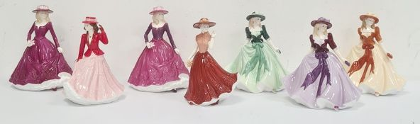 Royal Worcester figures 'Holly', 'Sarah'limited edition of 1200, 'Poppy'limited edition of 1200,