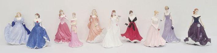 Royal Worcester figures 'Emily', 'Elizabeth', 'Special Day Bridesmaid', 'Isla Scotland', 'Sian