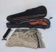"Violin with two-piece back bearing internal paper label reading ""Copie de Antonius Stradivarius"