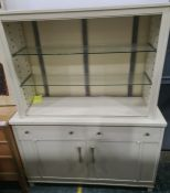 20th century cream painted steel medical cabinet, made in Japan and labelled 'US Property'  the