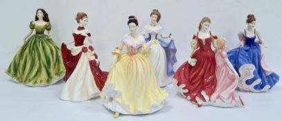 Royal Doulton figuresPretty Ladies 'From the Heart' HN5143, Pretty Ladies 'First Love' HN5145,