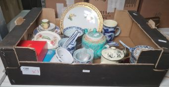 Assorted Oriental rice dishes and other ceramics (1 box)