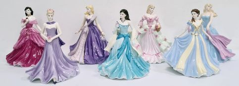 Coalport figures'Heather' Figurine of the Year 2011, Classic Elegance 'Forever Yours', Classic