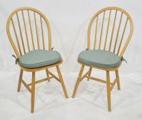 Set of four modern stickback chairs (4)