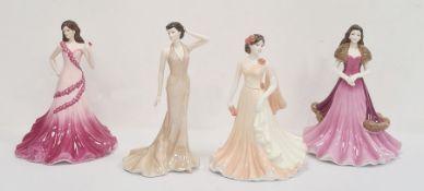 Coalport figures Classic Elegance 'Angelina', 'Jadie', 'Evening Romance'and 'Grace'(4)