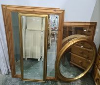 Five assorted mirrors (5)