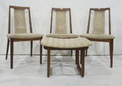 Six mid century G-Plan dining chairs to include two carvers together with one matching stool (7)
