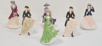 Royal Worcester figures Lara 'Christmas Morning'limited edition of 2000, 'Zara'limited edition
