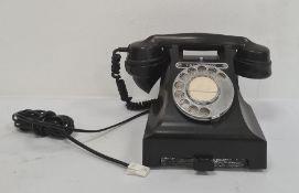 GPO black bakelite telephone