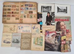 Quantity of assorted ephemerato include an album of early 20th century matchbox covers arranged
