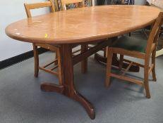 20th century teak extending table
