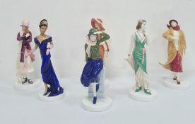 Royal Doulton Pretty Ladies figures 'Naomi', 'Theresa', 'Ruth', 'Julia', 'Eve' and 'Philippa' (