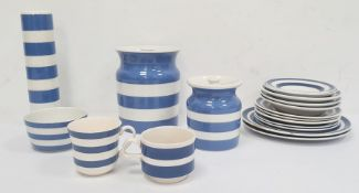 Quantity of T G Green & Co Cornish kitchenwareto include rolling pin, cups, plates, lidded pots,