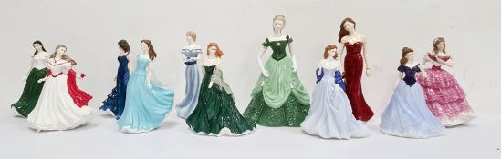 Royal Worcester figures'Olivia England' limited edition of 2000, The True Love Collection 'Lady