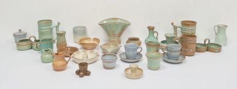 Quantity of Prinknash potteryto include jugs, vases, mugs, etc