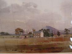 """J Fletcher Watson Watercolour """"Evening Troutbeck, Cumbria"""", signed lower left, 23.5cm x 35.5cm"""
