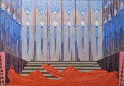 """Erte (Romain de Tirtoff) (1892-1990) Gouache and bodycolour """"La Femme le Diable, No.39"""", stage"""