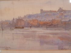 "Elizabeth Drake (early 20th century school) Watercolour  ""Whitby"", signed and dated lower left 1913,"