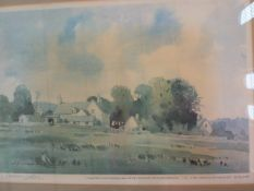 James Fletcher-Watson  Limited edition print  Cottage landscape scene, numbered 112/200 and dated