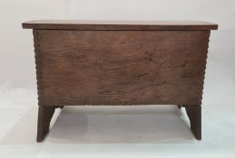 20th century oak six-plank coffer with lozenge and groove, 82cm wideCondition ReportCondition