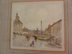 "Percy Lancaster RI (British, 1878-1951) Watercolour ""Kings Lynn, Norfolk"", amendment, not signed -"