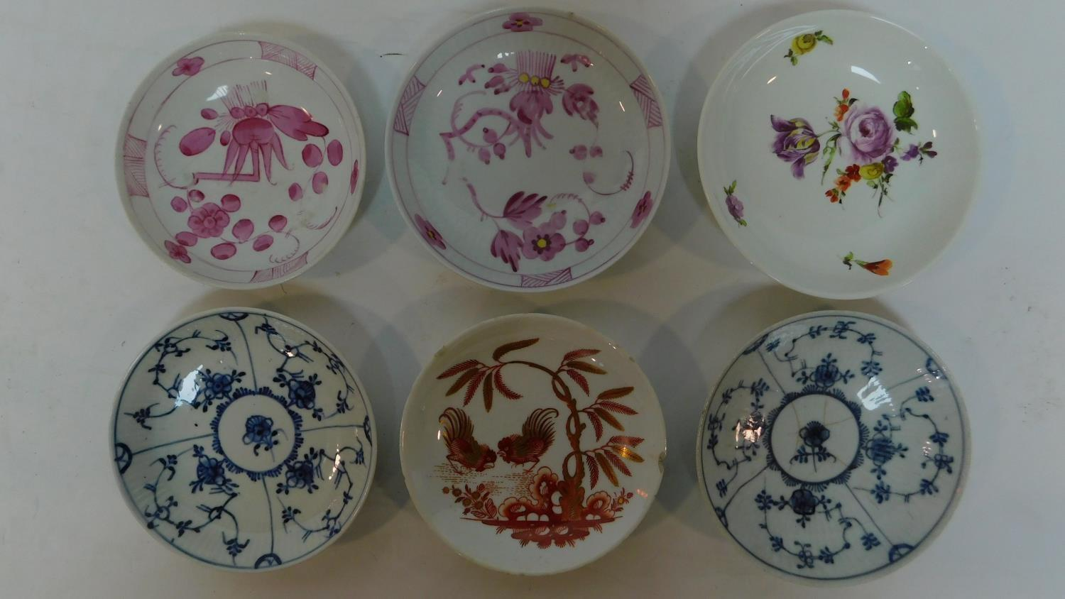 Lot 21 - A collection of 6 various 19th century Chinese and other dishes (6) H.3 W.13