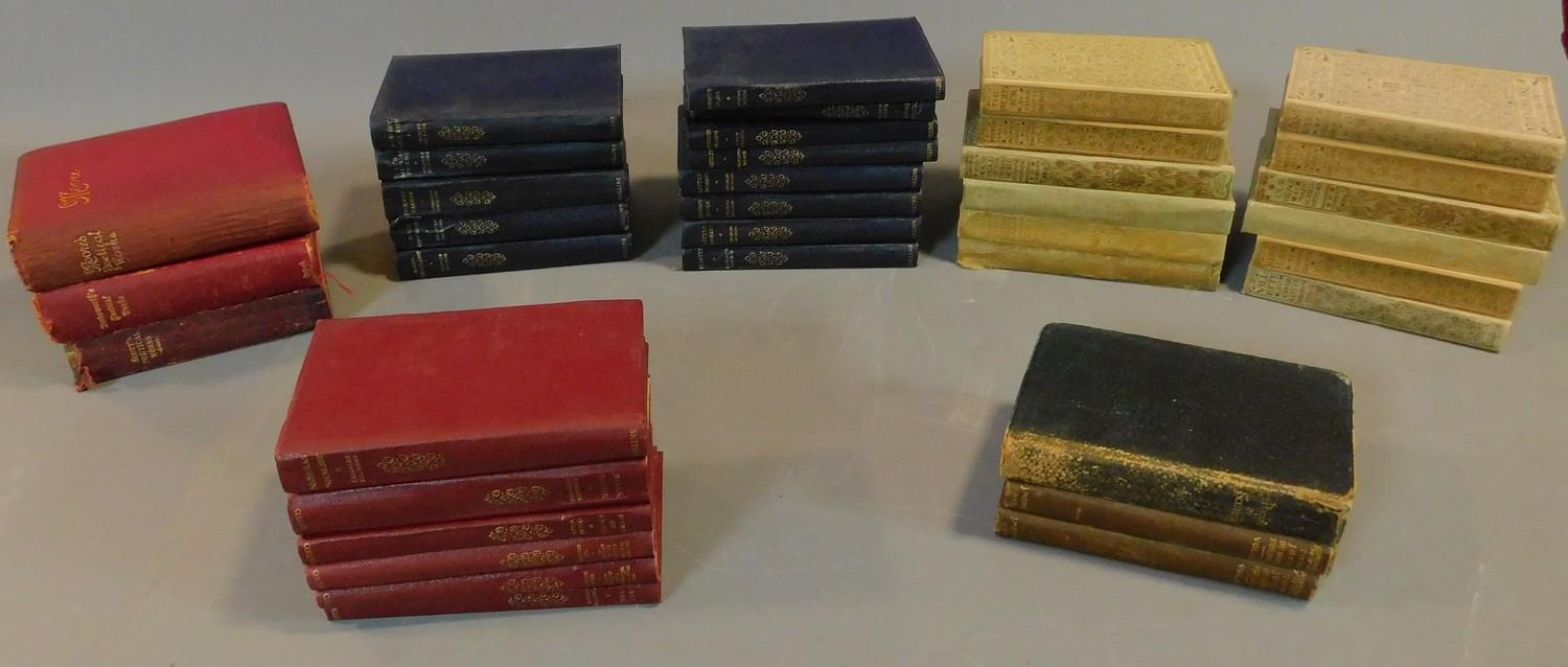 Lot 2 - A collection of books to include the poems of Scott, Wordsworth, Moore and Southey. 19x15cm (