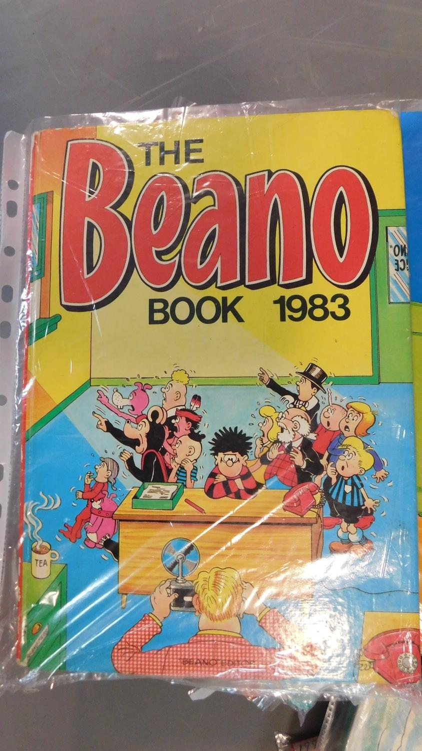 Lot 1 - A collection of twenty seven vintage Beano annuals. 1966, 1973-76, 1980-89, 1981-83 (repeats) 1991-