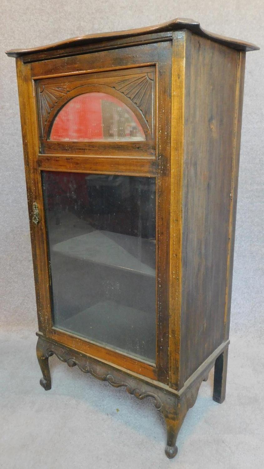 Lot 19 - Two Victorian beech music cabinets. 105x36x59cm