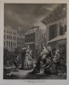 Original etchings from The Works of William Hogarth (1697 - 1764) from the original plates