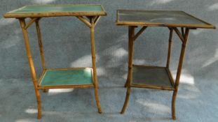 Two late 19th century bamboo occasional tables. H.70 W.53 D.37cm