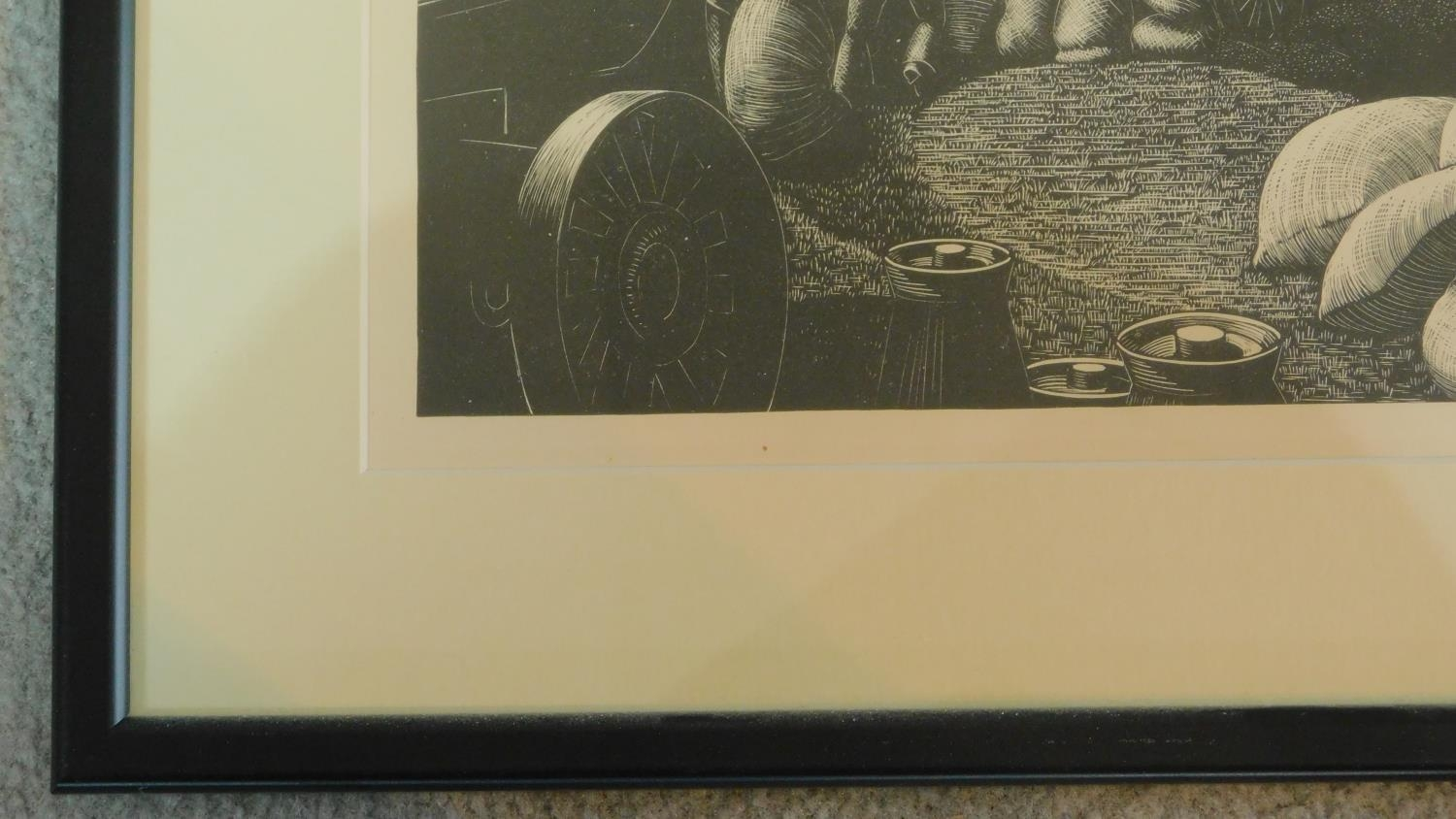 Lot 1 - A series of twelve framed woodblock prints taken from 'The Farmers Year'. All depicting various