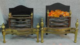Two vintage electric heaters in Regency style, both in working order. H.57 W.56 D.33cm