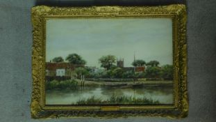 A gilt framed and glazed watercolour titled 'Isleworth on Thames', by J. Van Couver. 62x45cm