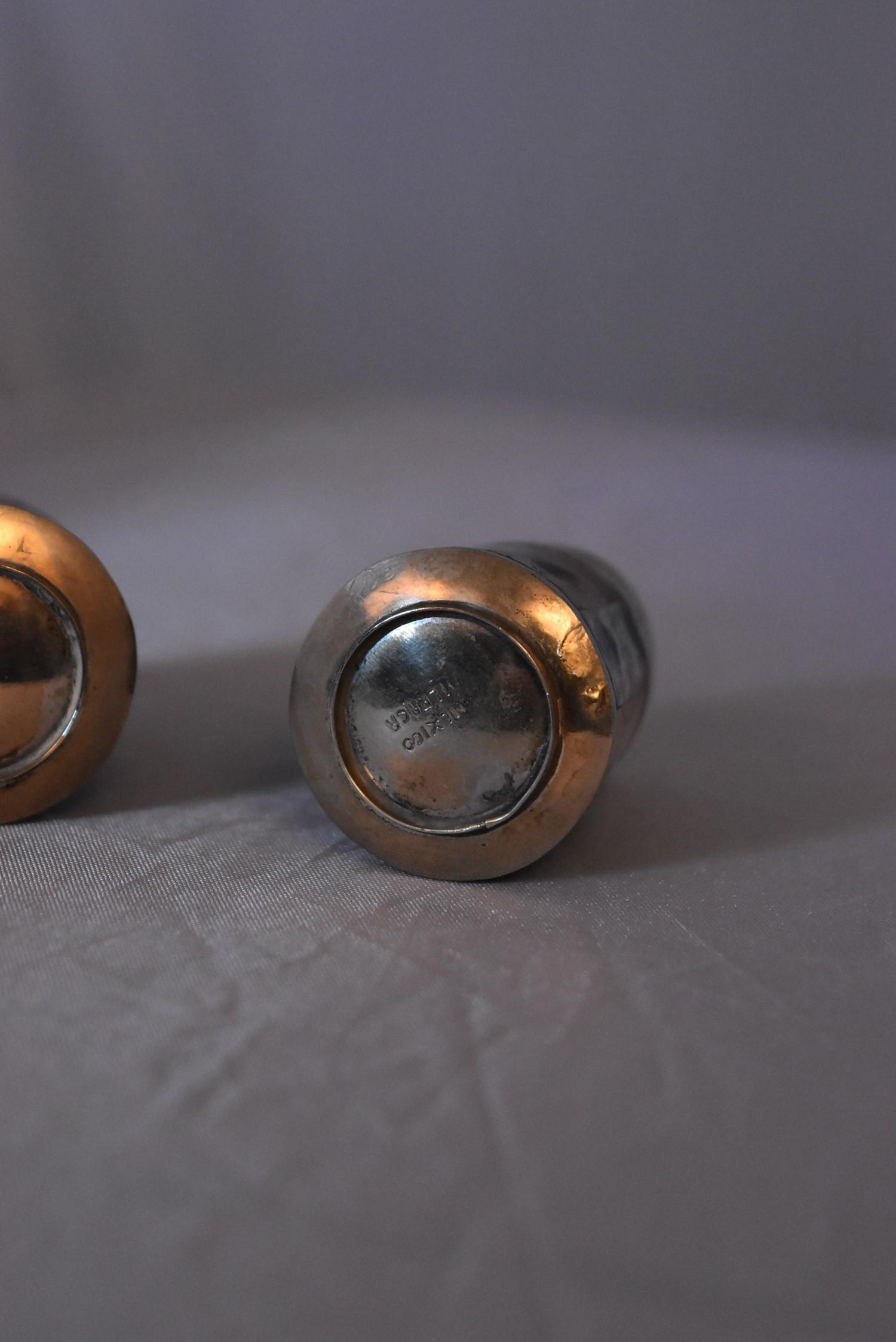 A collection of silver and white metal iterms items, to include matching Mexican white metal salt - Image 6 of 12