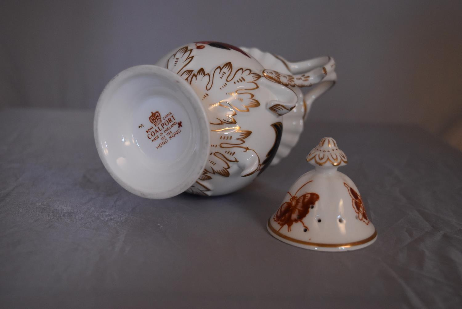 A collection of hand painted porcelain and ceramics. One Herend Ash tray with floral design and - Image 6 of 8