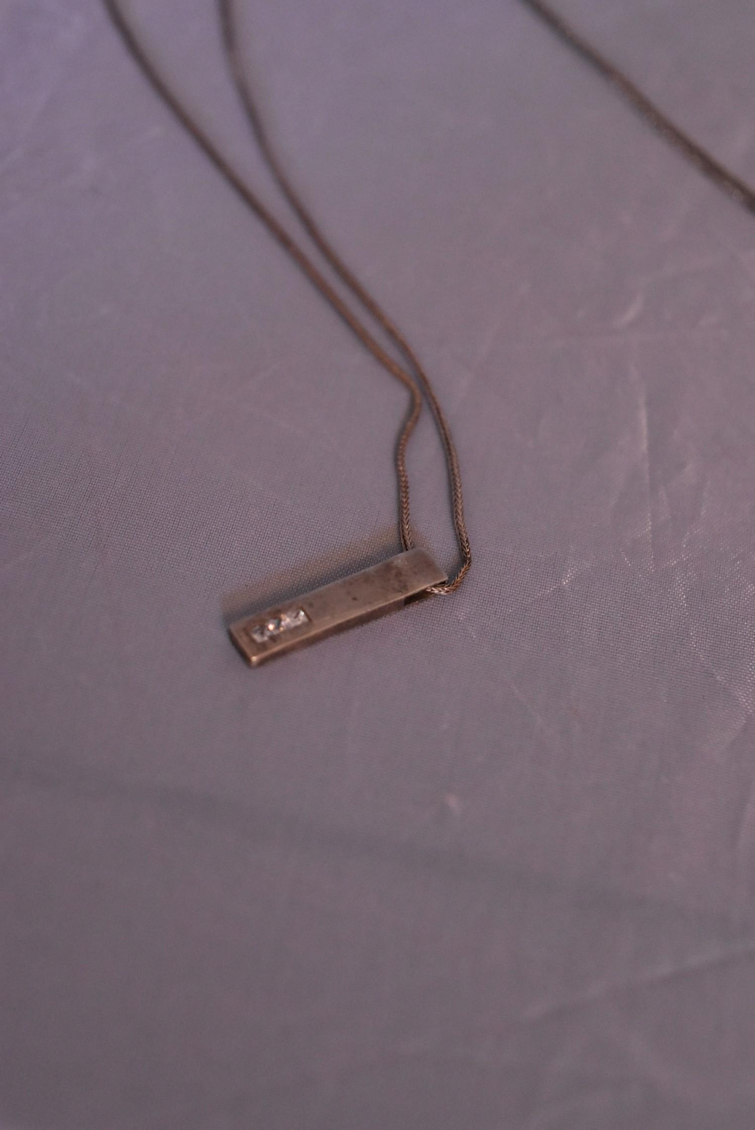 A collection of contemporary silver jewellery. Including a pair of silver and black enamel - Image 4 of 9