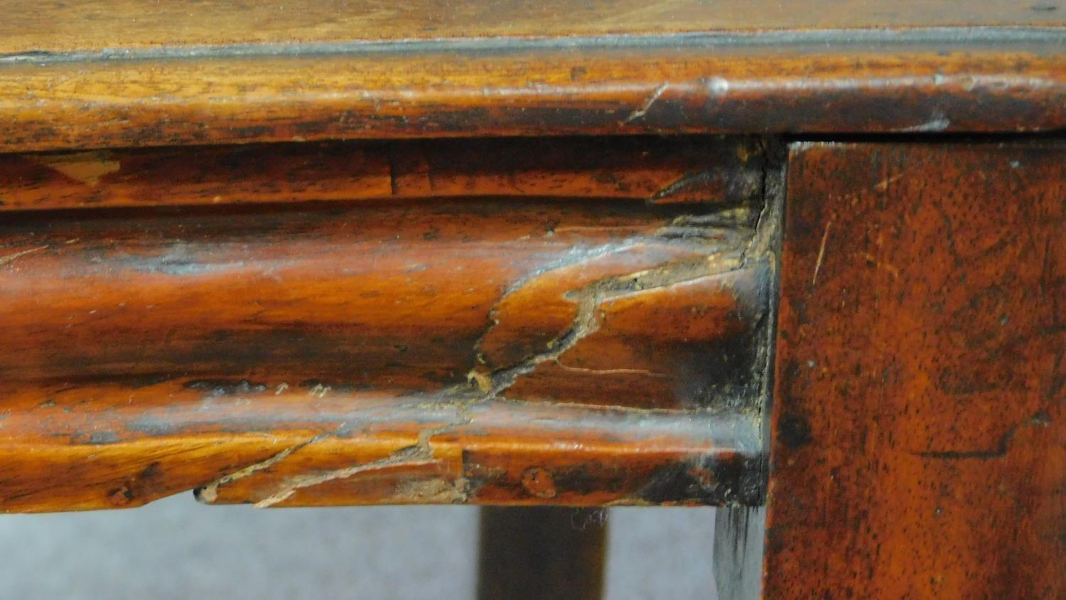 A pair of Victorian oak hall chairs with carved floral shield backs, raised on tapering turned - Image 6 of 7