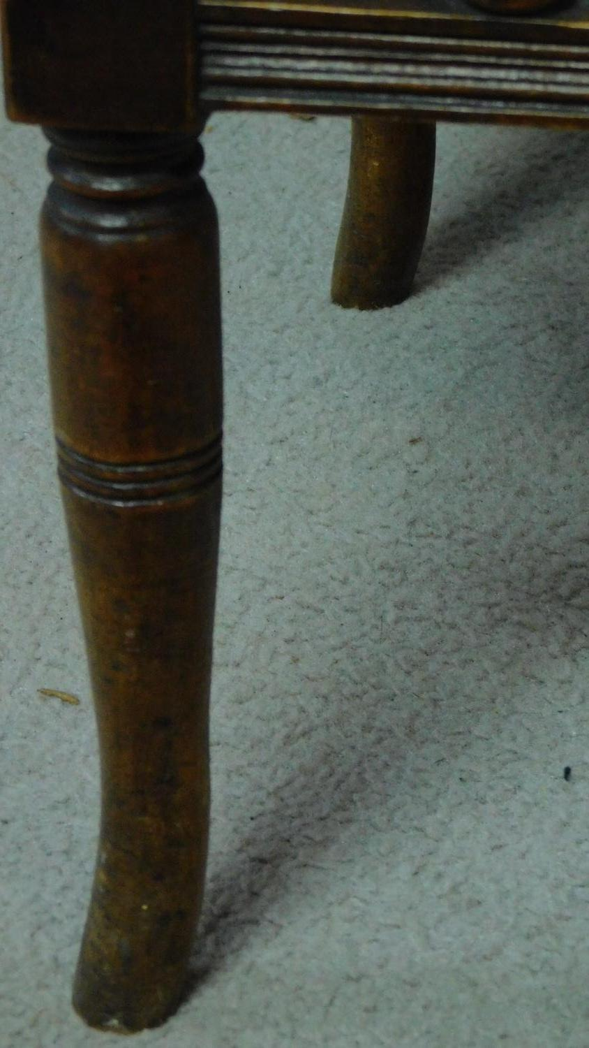 A 19th century walnut piano stool with fitted undertier for sheet music. H.55 W.46 D.36cm - Image 5 of 6