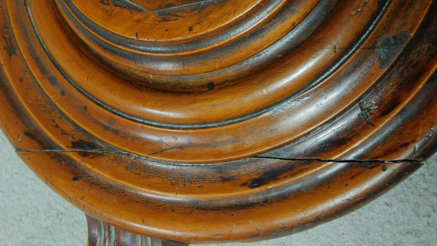 A 19th century mahogany circular occasional table raised on pedestal base. H.74 L.57 W.57cm - Image 4 of 4