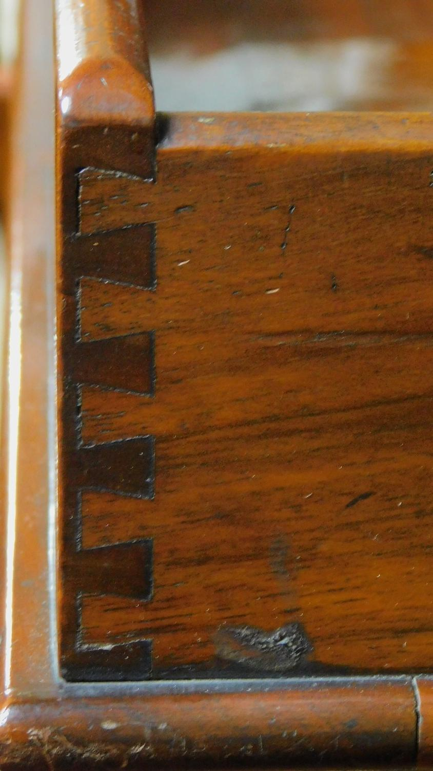 A Georgian Cuban mahogany butler's tray with folding stand. H.81 W.71 D.46cm - Image 5 of 5