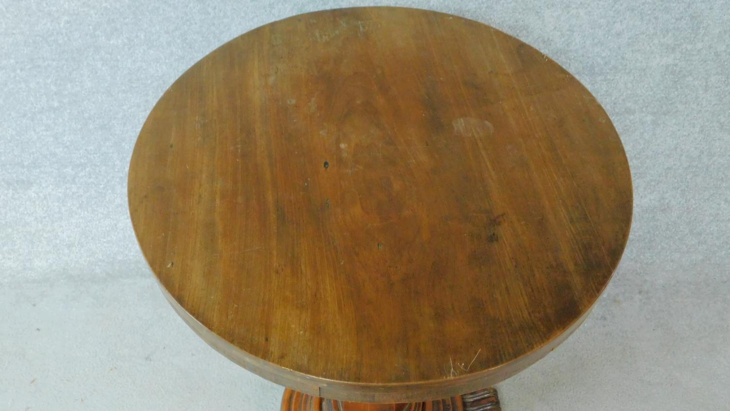 A 19th century mahogany circular occasional table raised on pedestal base. H.74 L.57 W.57cm - Image 2 of 4
