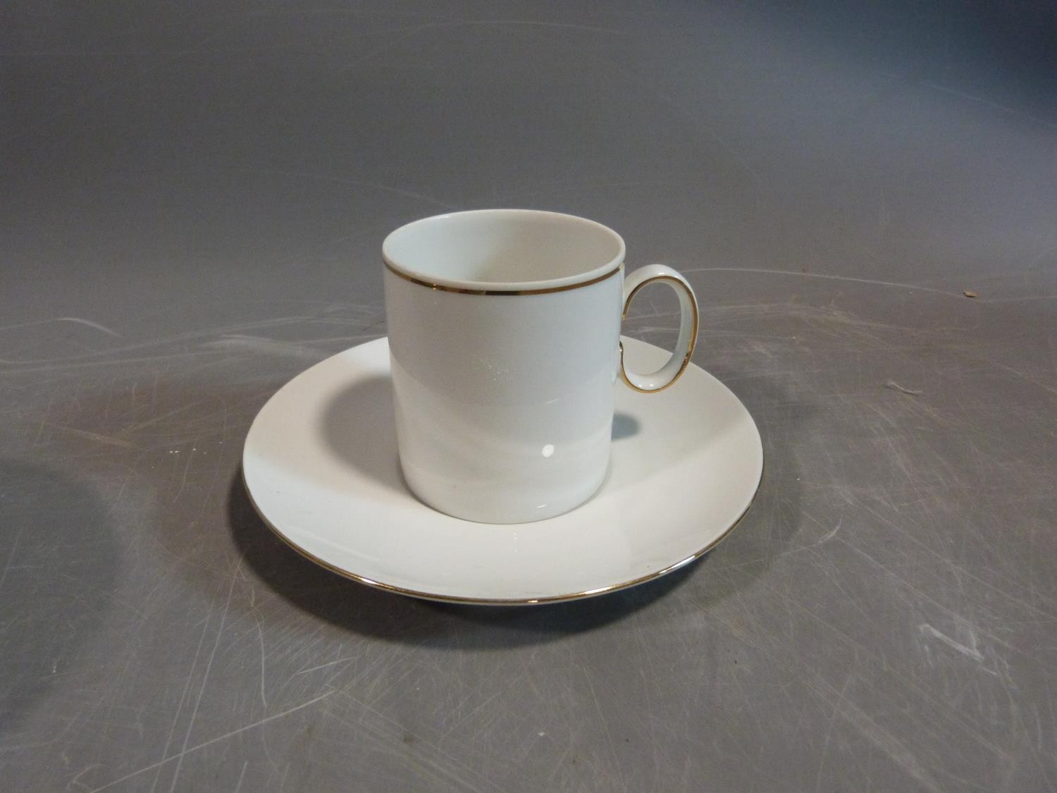 A white porcelain Thomas Germany gilded coffee set. H 22.5cm. - Image 7 of 9