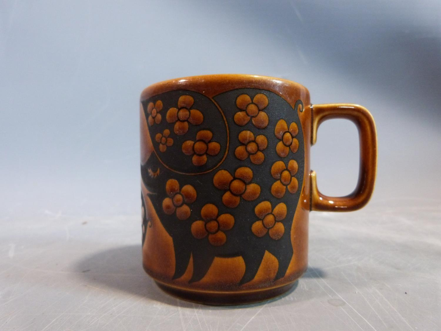 A collection of 1970's Hornsea mugs designed by John Clappison, a studio pottery vase and three - Image 9 of 22